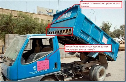 gaza garbage truck